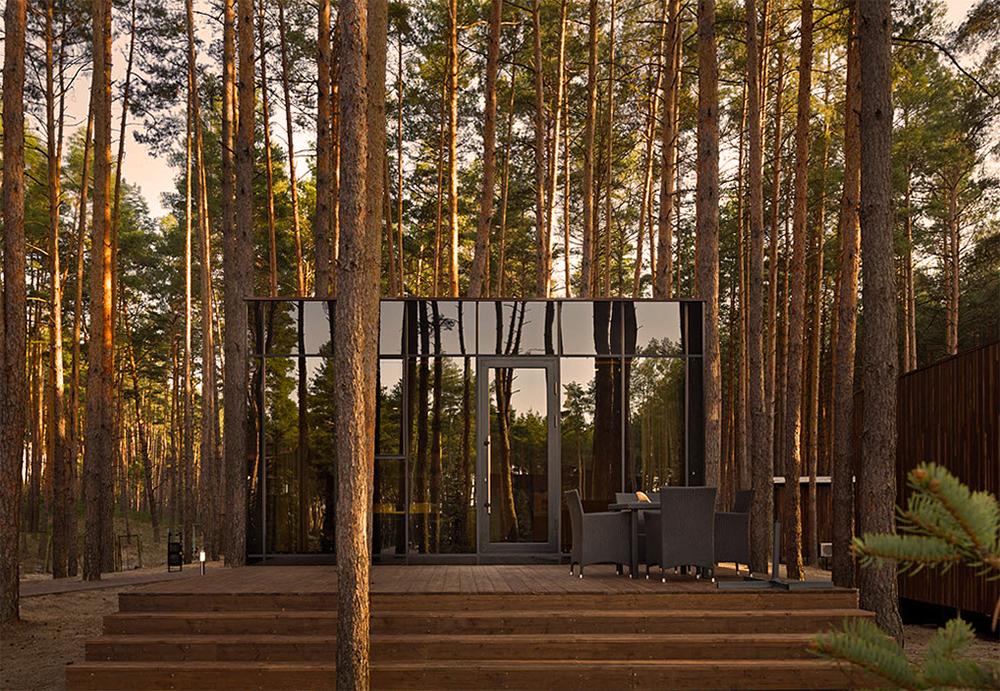 Modern Cabins Mirror UkraineForrest