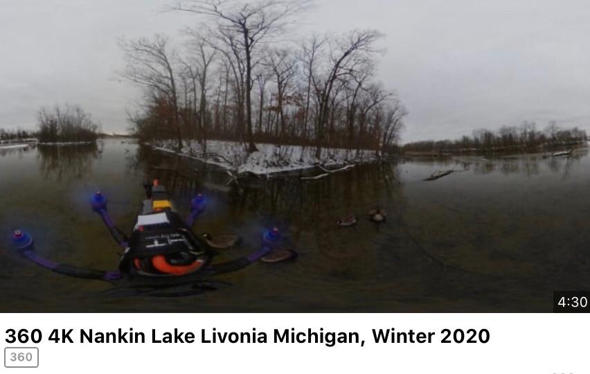 4K 360 View Nankin Lake, Livonia,Michigan